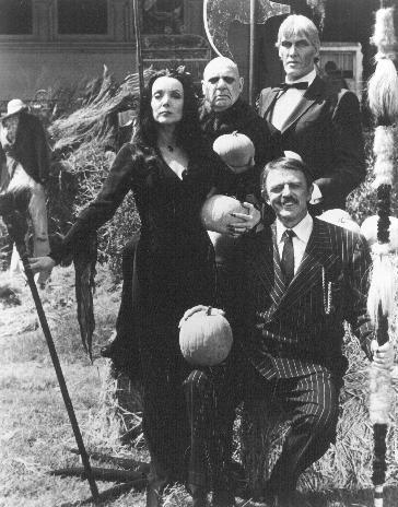 La Familia Addams : Foto Carolyn Jones, Jackie Coogan, John Astin, Ted Cassidy