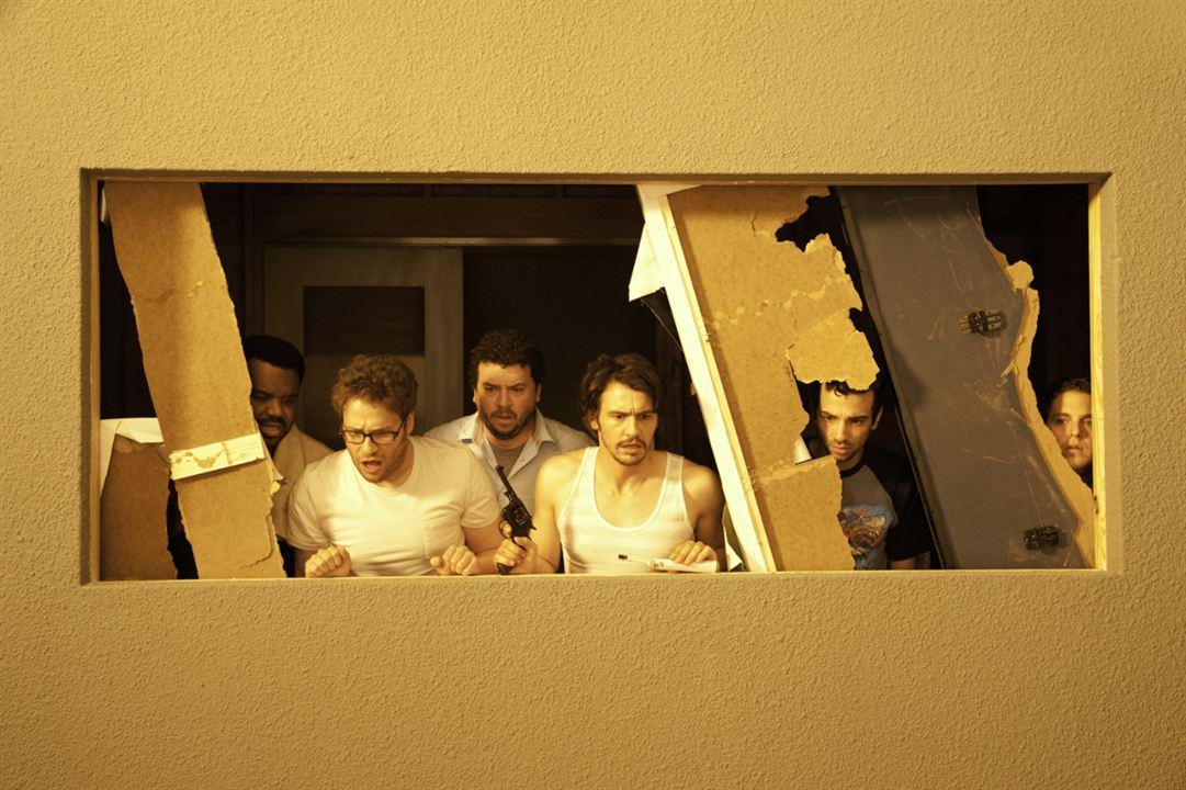 Juerga hasta el fin : Foto Craig Robinson, Danny McBride, James Franco, Jay Baruchel, Jonah Hill