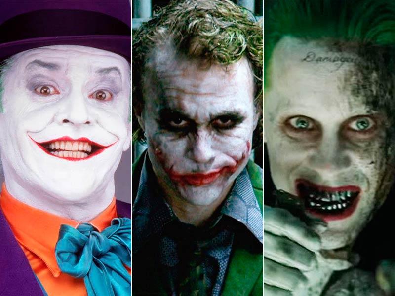 El Joker (Jack Nicholson, Heath Leadger, Jared Leto)