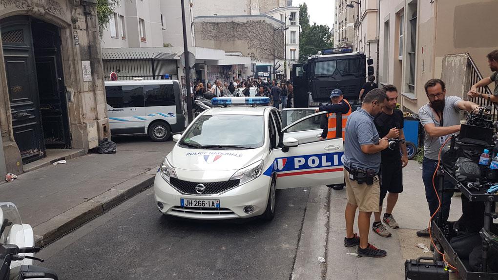 Coches de policía utilizados en el rodaje
