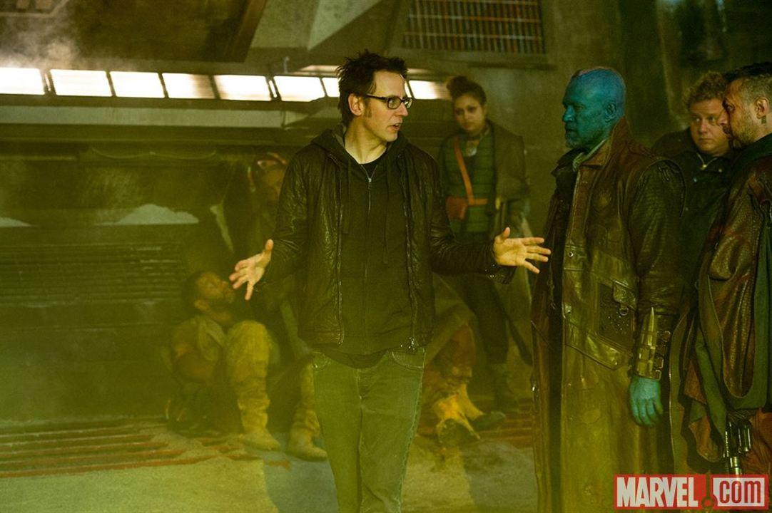 Guardianes de la galaxia : Foto James Gunn, Michael Rooker