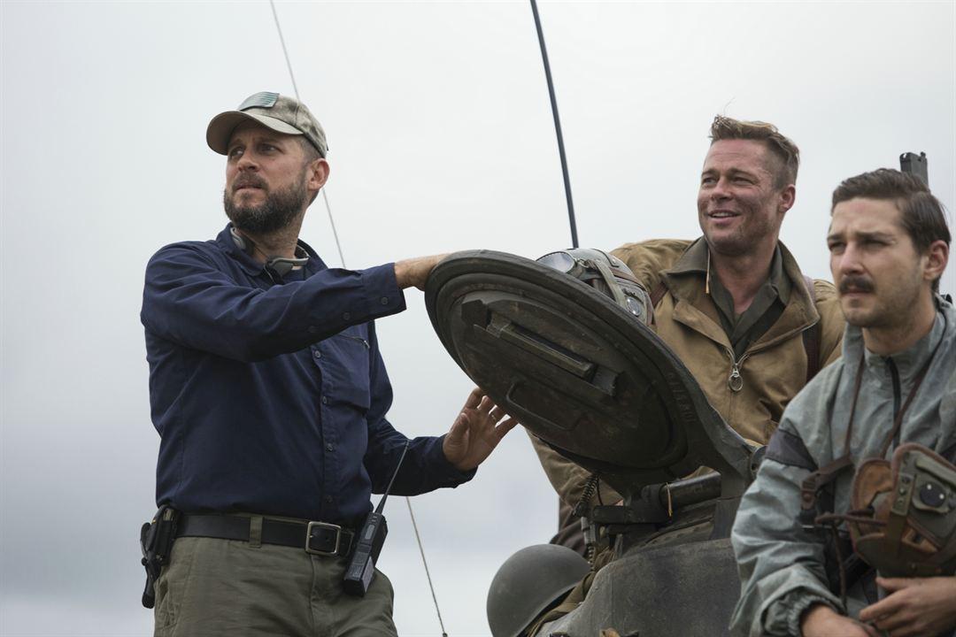 Corazones de acero : Foto Brad Pitt, David Ayer, Shia LaBeouf