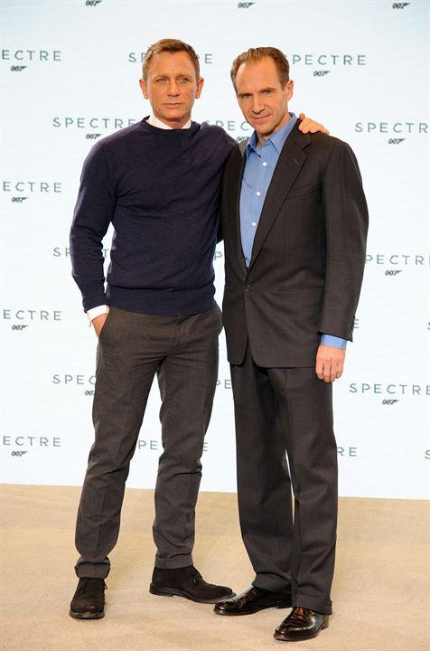 Spectre : Couverture magazine Daniel Craig, Ralph Fiennes