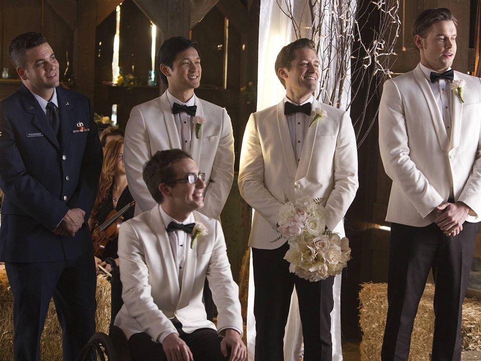Foto Chord Overstreet, Harry Shum Jr., Kevin McHale, Mark Salling, Matthew Morrison