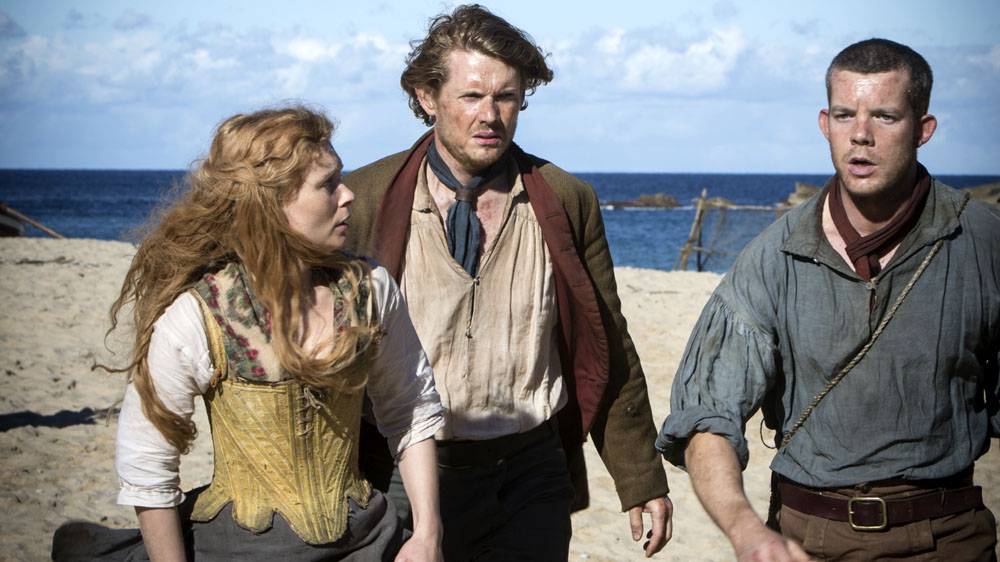 Banished : Foto Julian Rhind-Tutt, Myanna Buring, Russell Tovey