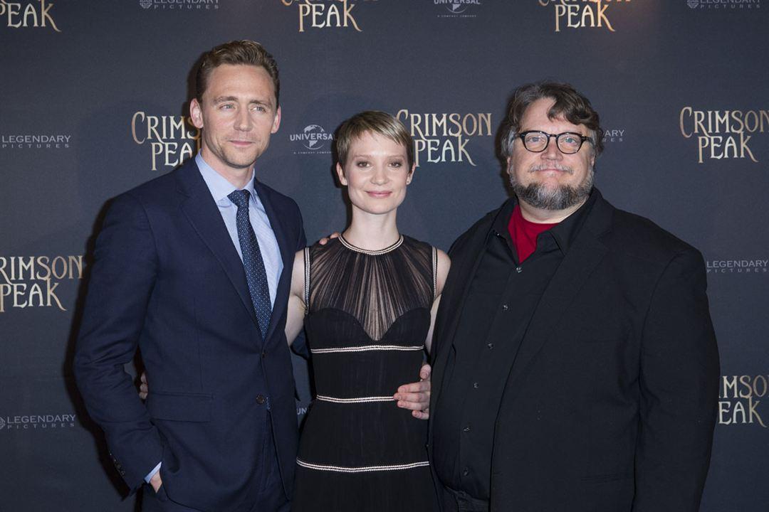 La cumbre escarlata : Couverture magazine Guillermo del Toro, Mia Wasikowska, Tom Hiddleston