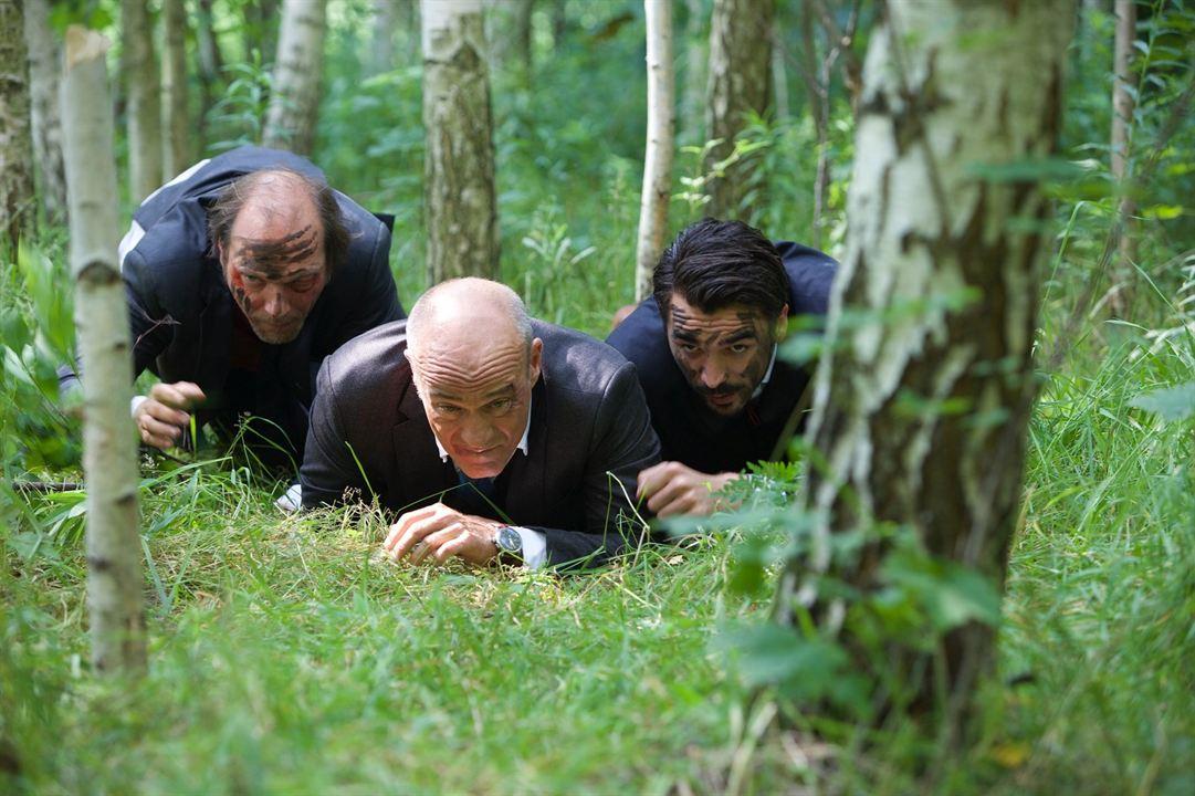 Foto Blerim Destani, Heiner Lauterbach, Martin Brambach