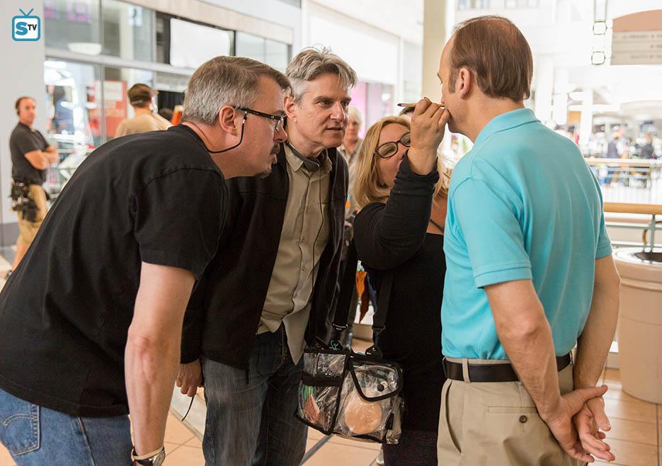 Foto Bob Odenkirk, Peter Gould, Vince Gilligan