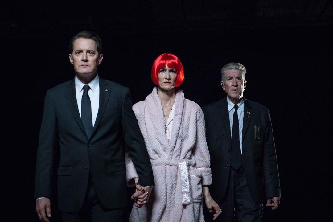 Foto David Lynch, Kyle MacLachlan, Laura Dern