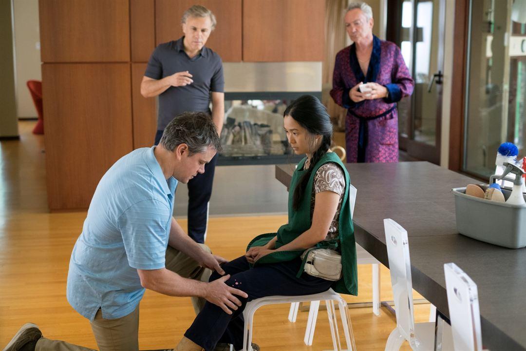 Una vida a lo grande: Matt Damon, Christoph Waltz, Hong Chau, Udo Kier