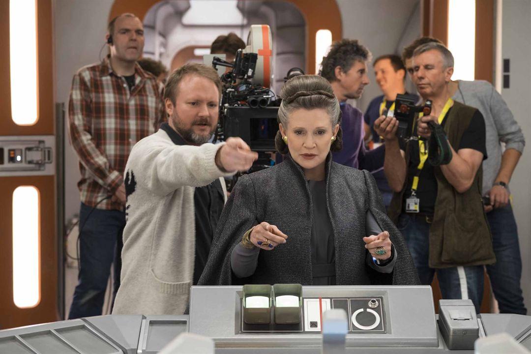Star Wars: Los últimos Jedi: Carrie Fisher, Rian Johnson
