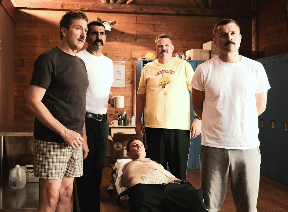 Super maderos 2 : Foto Erik Stolhanske, Jay Chandrasekhar, Kevin Heffernan, Paul Soter, Steve Lemme