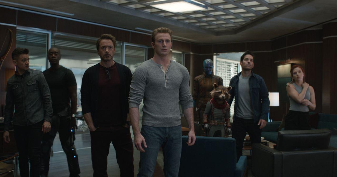 Vengadores: Endgame : Foto Chris Evans, Don Cheadle, Jeremy Renner, Karen Gillan, Paul Rudd