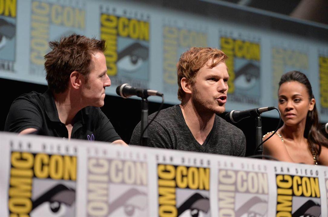 Guardianes de la galaxia : Couverture magazine Chris Pratt, James Gunn
