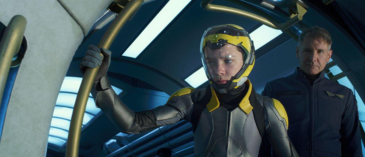 El juego de Ender : Foto Asa Butterfield, Harrison Ford