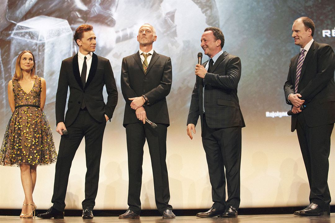 Thor: El mundo oscuro : Couverture magazine Alan Taylor, Kevin Feige, Tom Hiddleston